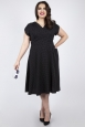 Vixen Curve Tabby Black Polka Dot Tea Dress