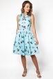 Betty Kitchen Kitty Print Shirt Dress