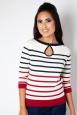 Emery Stripe Keyhole Sweater