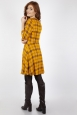 Harley Shadow Collar Tartan Yellow Dress