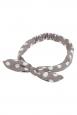 Polka Dot Bow Headband in Grey