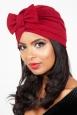 Elsie Burgundy Bow Turban