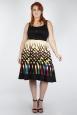 Vixen Curve Jean Border Print Flared Dress