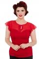 Alyssa Red Sweetheart Top
