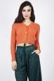 Mabel Cropped Cardigan in Orange
