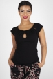 Maddie Keyhole Top in Black