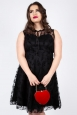 Vixen Curve Penny Black Lace Flare Dress