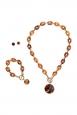 Amber Three Piece Jewellery Set