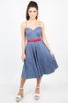 Shelley Cherry and Stripe Flared Dress