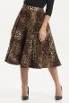 Sarah Heavyweight Leopard Print Circle Skirt