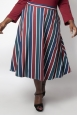 Vixen Curve Madelyn Striped Full Circle Skirt