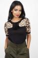 Natalia Leopard Sleeve Sweater
