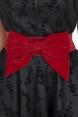 Red Velvet Bow Waist Belt