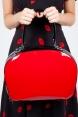 Claudia 50s Red Vinyl Bag