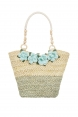 Wicker Floral Tote