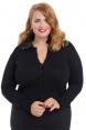 Edith Faux Fur Collar Plus Size Cardigan