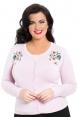 Rosamund Pink Embroidered Plus Size Cardigan