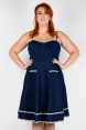 Daisy May Denim Plus Size Flared Dress