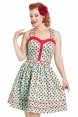 Dotty Ladybird Flared Dress