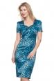 Serena Blue Leopard Print Dress