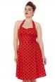 Millie Red Flared Polka-Dot Dress