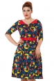 Prairie 50s Retro Cat Dress
