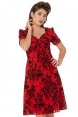 Brittany Red and Black Rose Dress