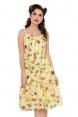 Sylvia Yellow Floral Dress