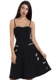 Bee Black Flared Dress