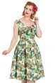 Dana Tropical Cherry Print Dress