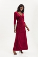 Elizabeth Long Length Wrap Dress in Embossed Velvet