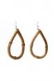 Frannie Tear Bamboo Earrings