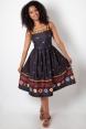 Fearne Fiesta Print Flared Dress