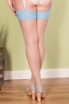 Seamed Stockings Sky Glamour by What Katie Did