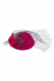 Elegant Pink Feather Fascinator with Bow