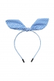 Bow Headband in Blue Gingham