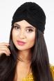 Leila Black Sparkle Turban