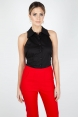 Jasmine Black Sleeveless Shirt