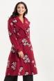 Marjorie Burgundy Floral Trench Coat