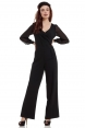 Rosemary Black Flared Jumpsuit