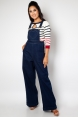 Vixen Curve Natalia Heart Pocket Overall Jumpsuit