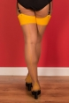 Seamed Stockings Mustard Glamour by What Katie Did