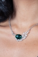 Elegant Peacock Feather Necklace