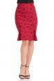 Natalie Red Pencil Skirt