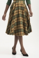 Bridget Plaid Full Circle Skirt