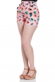 Katheryn Retro Cat Print Shorts
