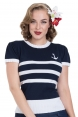 Summer Striped Anchor Sweater