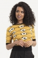 Clara Mustard Floral Sweater