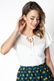 Samantha Mesh Top White