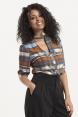 Katherine 40s Style Tartan Blouse